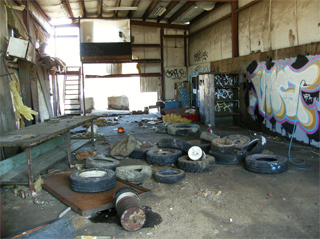 abandned interior industrial space